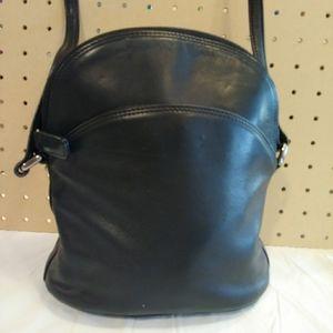Small Talbots black leather purse